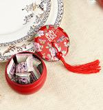 مبتكر وشخصية [شنس ستل] حمراء عرس معروفة صندوق, مستديرة قصدير [جفت بوإكس] مع [تسّل] جميل