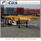 반 ISO 20FT 콘테이너 해골 실용적인 트럭 트레일러