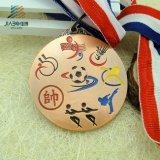 旧式な銅によってめっきされる金属の安いスポーツメダル