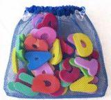 Organizzatore piano del sacchetto della maglia di vendita calda per i giocattoli del bagno del bambino