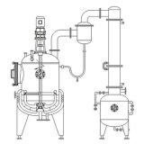 El tanque reducido presión de la concentración del vacío