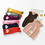Gilet du chandail des gosses de pull d'O-Collet de couleur solide de chandail d'enfants de l'hiver