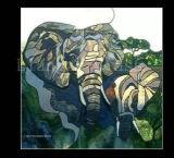 蝶芸術の装飾的な絵画を着色しなさい