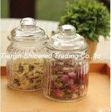 Vaso del vetro da bottiglia di memoria della cristalleria della cucina