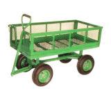 Carro de jardim com roda de borracha