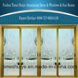 Porta deslizante de alumínio de vidro simples de camada dobro do estilo para a casa de campo