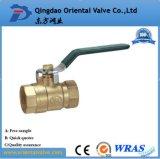 Media da água e polegada de bronze da válvula de esfera 1-1/2 da pressão da baixa pressão
