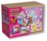 Boîte en bois OEM 4 en 1 Puzzle en bois