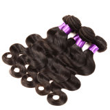 8Um grau de onda do Corpo de cabelo Virgem Peruano com encerramento barato de cabelo humano com o encerramento da peça com fecho e molhos