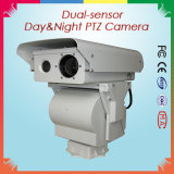 Da luz do dia térmica da fiscalização de PTZ IR câmera video 6.5km do IP