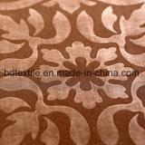 Los más nuevos diseños de la flor grabaron la tela de la hoja de base de Microfiber