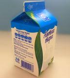 caixa fresca da caixa da parte superior do frontão do suco 500g/leite/creme/vinho/água com curva