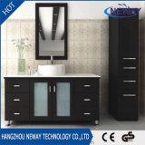 陶磁器の洗面器デザイン簡単な木製の標準的な浴室の虚栄心のキャビネット