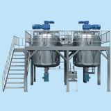 Yogurt elevado da tesoura do vácuo do aço inoxidável que mistura o tanque de mistura de emulsão elétrico