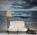 Tissu de mur en soie d'impression imperméable à l'eau de Digitals pour la décoration à la maison