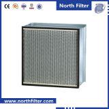Filtro medio flangiato dal separatore per purificazione dell'aria