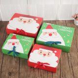 Vente en gros élégante impression couleur Boîte cadeau de Noël, boîte d'emballage de Noël