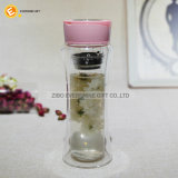 350ml de doble pared de cristal transparente Tea Infuser