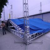La riga di alluminio torretta DJ dello zipolo poco costoso del quadrato 350X350 del DJ dell'elevatore di strato dell'altoparlante di schiera l'audio organizza il fascio