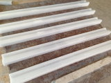 Кристаллический белые мраморный граници, граници мозаики, прессформа рельса, рельс стула, прессформа рельса