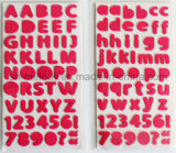 a~Z medio multicolore di alfabeti, a~Z, 0~9 autoadesivi della gomma piuma per Scrapbooking e Cardmaking