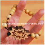 Joyería de moda de primavera /Pulsera Abalorios de madera de Madera Natural/ Bracelets (PB-041)