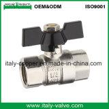 Robinet à tournant sphérique en laiton nickelé de guindineau de qualité (AV10057)