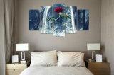 5 el panel HD imprimió los cuadros caseros modernos del arte de la pared de la decoración del arte de la impresión de la lona de la bestia de la belleza de pintura de la lona para la sala de estar