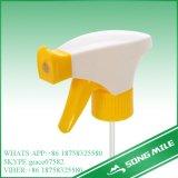 28/410, 28/415 branco/rosa do pulverizador de gatilho plástico da tampa dupla