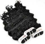 Brasilianische tiefe Wellen-unverarbeitetes Jungfrau-Haar für Einzelhändler (Grad 9A)