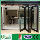China bildete Aluminiumglastüren für Bi-Faltende Tür