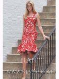 고품질 유럽 여자 형식 옷 여름 당 섹시한 미끄러짐 복장
