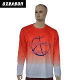 Factory Direct imprimé personnalisé Sports en vrac de gros bon marché T-shirt manches longues