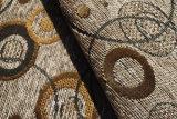Tissu de Chenille de cercle pour le sofa (FTH31177)
