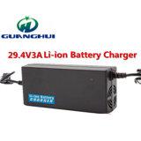 carregador de bateria elétrico do lítio da bicicleta do carregador de bateria 24V do Li-íon de 29.4V 3A