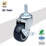 PA/PP/PU/TPE kleines Fußrollen-Rad, 1.5 '' 2 '' 2.5 '' 3 '', Nutzlast 25-30kg