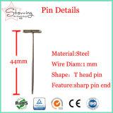 5 su Polished Pin diritto capo piano differente dell'acciaio inossidabile T per cucire