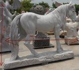 Het witte Marmeren Snijden van het Standbeeld van het Cijfer van de Steen voor Tuin