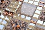 R28 malla posterior marrón Flor Cristal decorativo Mosaico Material