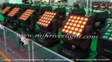 luz principal móvil de la viga LED de la matriz del color del patio del CREE 25*12W