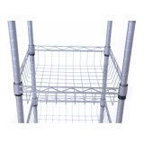 Silver Epoxy Coated Sturdy 6 Tier DIY Home Kitchen Storage Rack Shelf with Tennis shoe