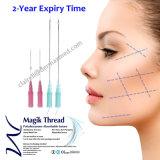 Elevador de face farpado da linha do levantamento de face do cuidado de pele do nó da roda denteada da linha de Pdo