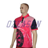 Commerce de gros OEM Custom Polyester Dri Fit l'arbitre de sublimation T Shirt