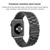 Unisex de acero inoxidable de plata de la banda de ver los enlaces para Apple