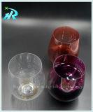 taza plástica sin pie del coque de los vidrios de vino 20oz