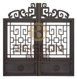 Decoração bonita porta galvanizada do aço da casa do ferro feito
