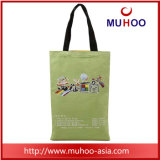 Lona da bolsa das senhoras da forma/saco da praia compra do algodão com cópias