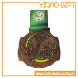 Kundenspezifische antike Medaille des Messing-3D für förderndes Geschenk (YB-LY-C-08)