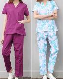 L'infirmière manteau blanc uniforme Short Sleeve mince les pharmacies de médication Médecin des vêtements de travail pratique des étudiants Vêtements expérimentale
