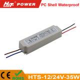12/24V de 20W a 100W Fuente de alimentación LED impermeable Hts-Series